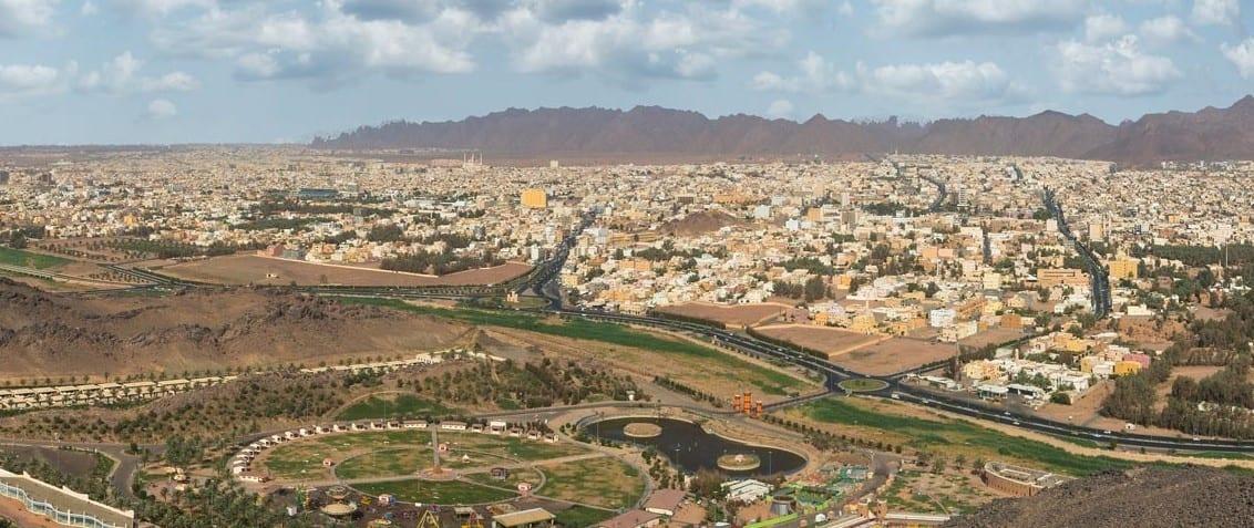 موقع محافظة حائل في السعودية