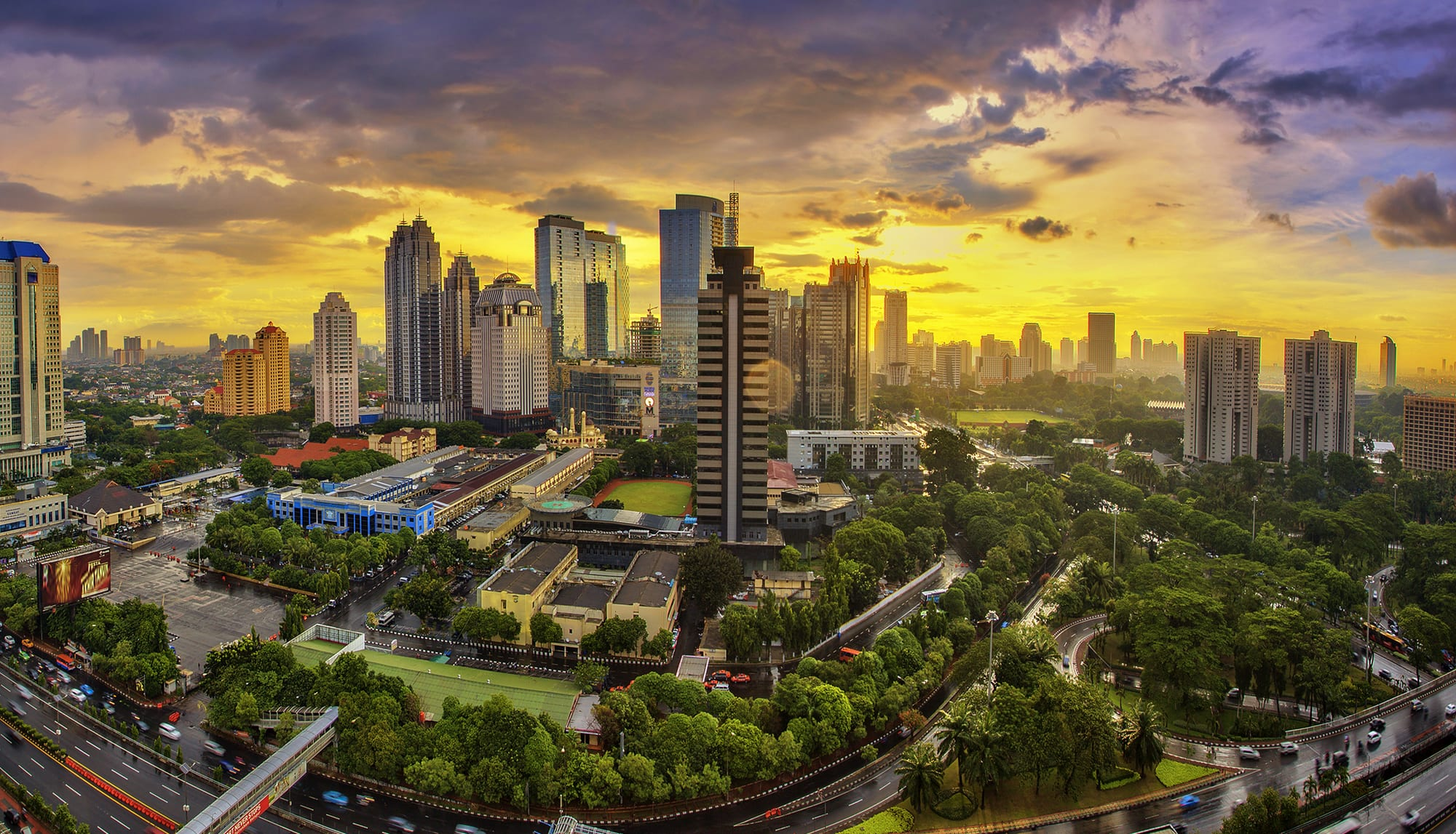 مدينة جاكرتا في أندونيسيا