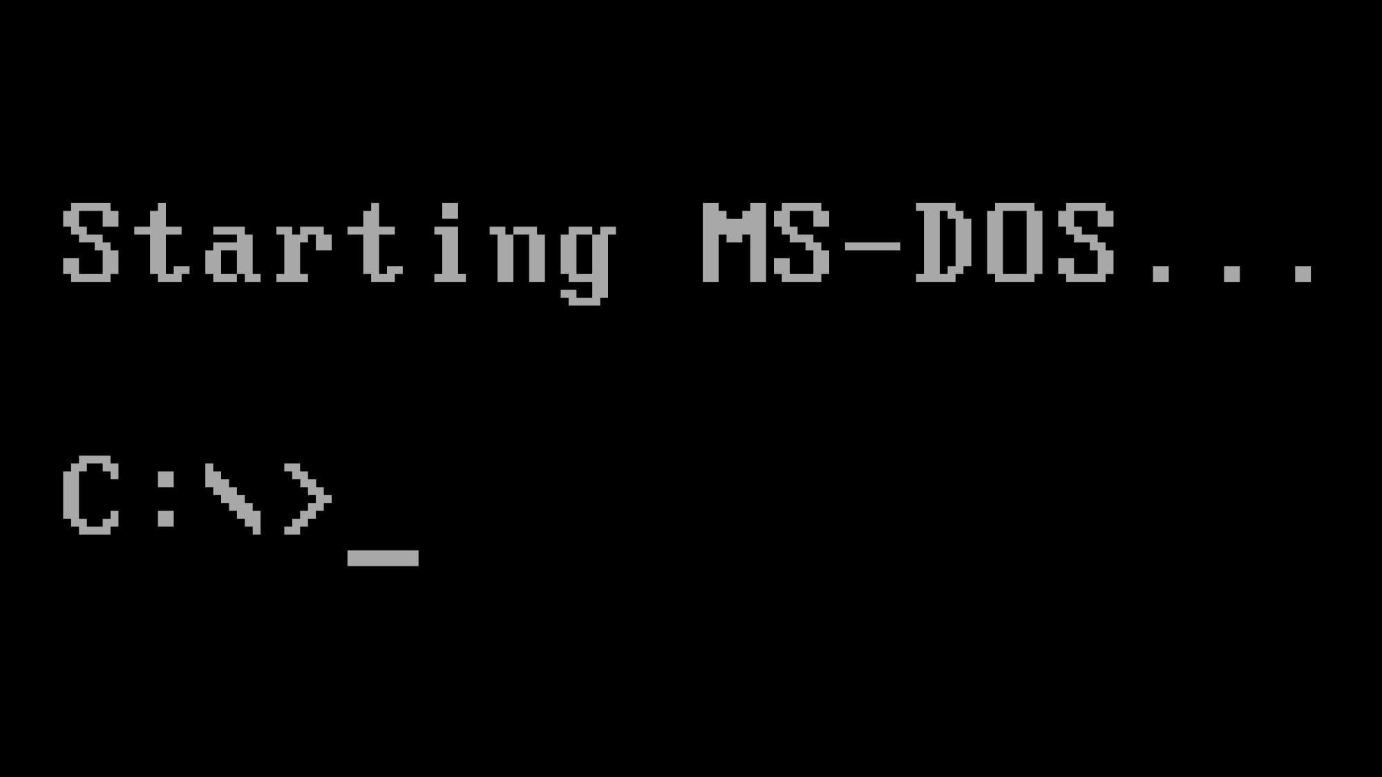 أوامر نظام التشغيل dos